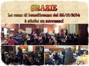 Cena di beneficenza 25 gennaio 2014