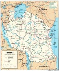 tanzania_Map