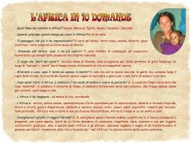 FRANCESCA - L'Africa in 10 domande