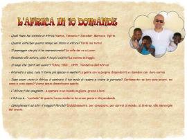 L'Africa in 10 domande Vincenzo