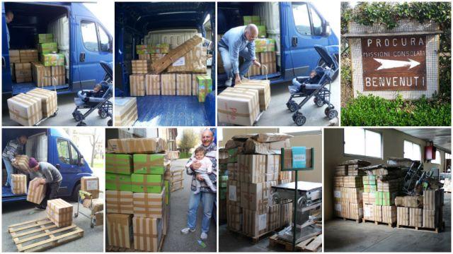 Container aprile 2014 - Carico e consegna alla Procura Missioni Consolata di Alpignano