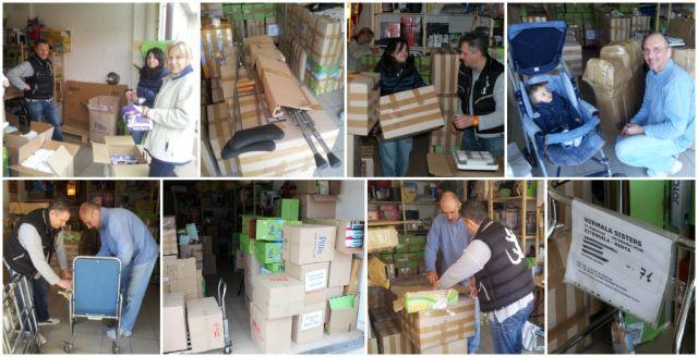 Container aprile 2014 - la preparazione delle scatole