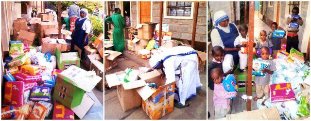 Una montagna di pannolini per i bimbi della Maria Mfariji Home