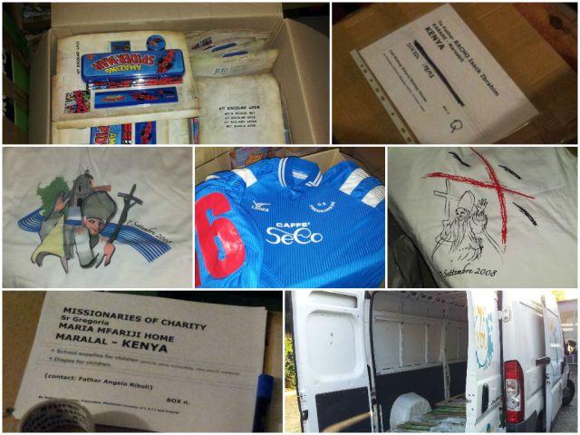 Materiale, preparazione e consegna presso Procura Missioni Consolata Alpignano - Container ottobre 2013