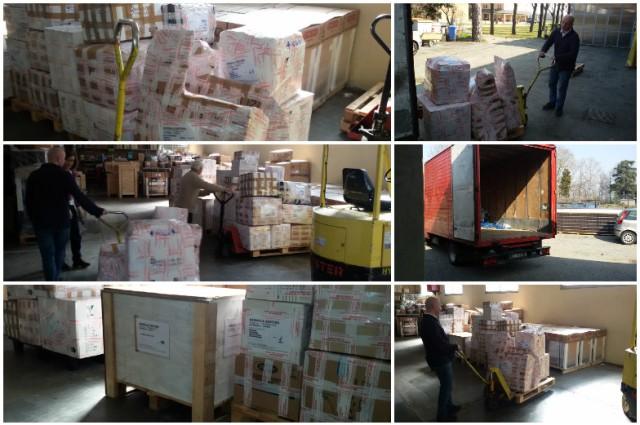 Container febbraio 2016 – Consegna presso la Procura Missioni Consolata di Alpignano