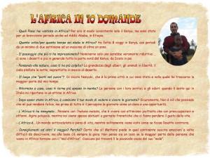 FABRIZIO - L'Africa in 10 domande