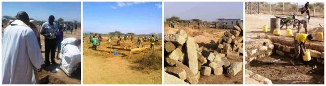Posa della prima pietra, fondamenta e inizio lavori - giugno 2014